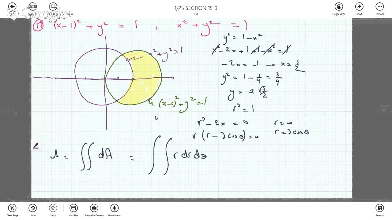 Double Integrals In Polar Coordinates To Find Area Between 2 Circles   Youtube