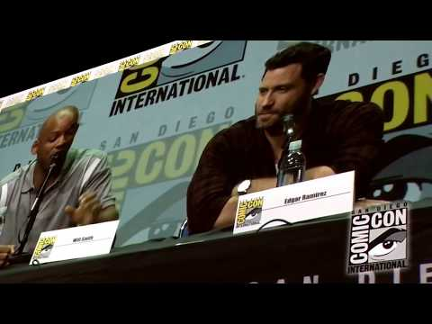 Will Smith & Lucy Fry Tell What Bright Means SDCC San Diego Comic-Con 2017