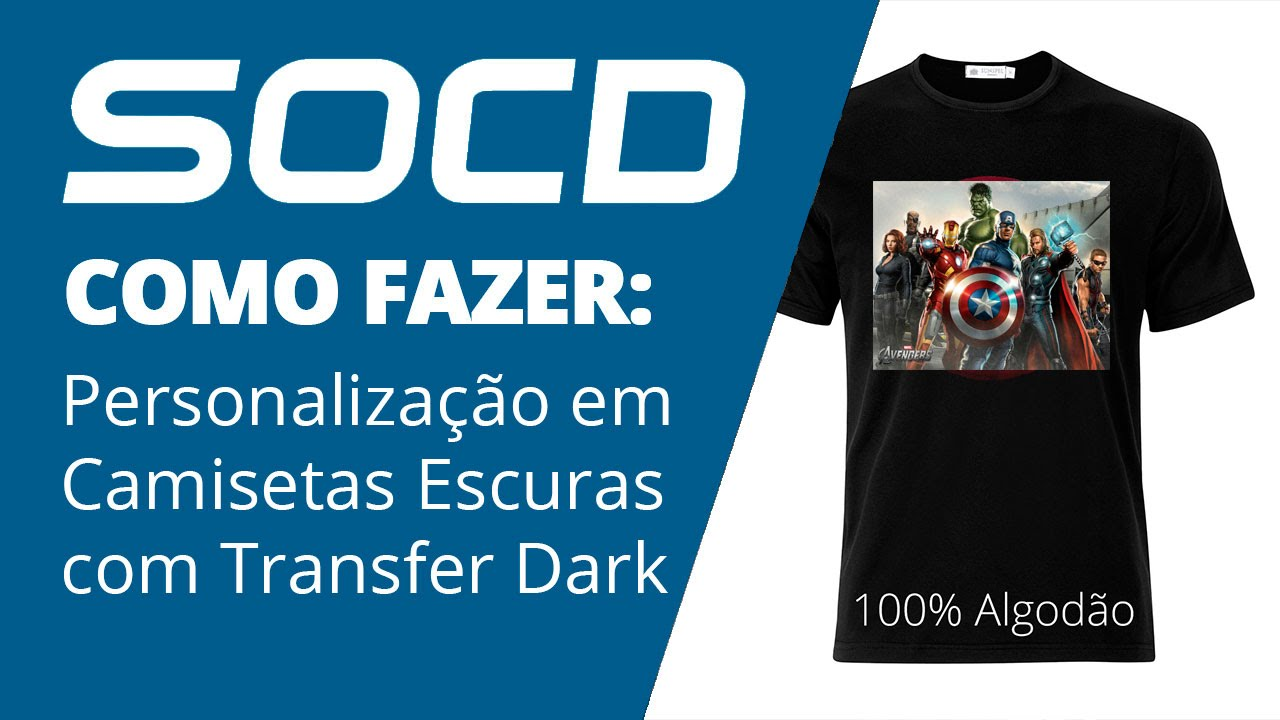 510e70ca0 Como Estampar Camisetas Pretas ou Coloridas com Transfer Dark - YouTube