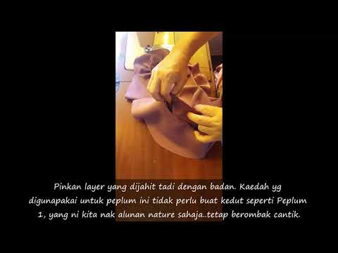 Jahitan Baju Kurung Peplum Kanak-Kanak Lengan Kupu-kupu - Jahit Peplum