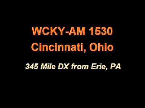 WCKY-AM 1530 Cincinnati, OH DX From Erie Pa