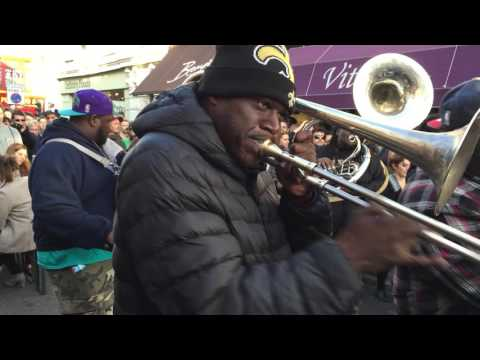 Hot 8 Brass Band - impromptu North Laines gig