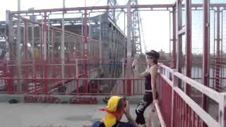 Russian model doing Punk Crime Theme shoot in Brooklyn Thumbnail