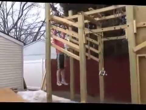 American Ninja Warrior Backyard Course Run - YouTube