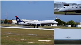 SPECIAL FLIGHT US Airways Embraer E-190 Landing & Departing Grand Cayman(MWCR)