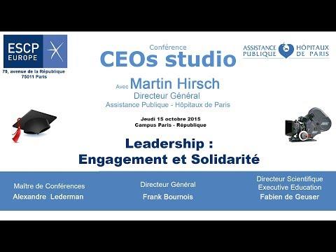 ESCP Europe CEOs Studio Engagement et Solidarité avec Martin Hirsch