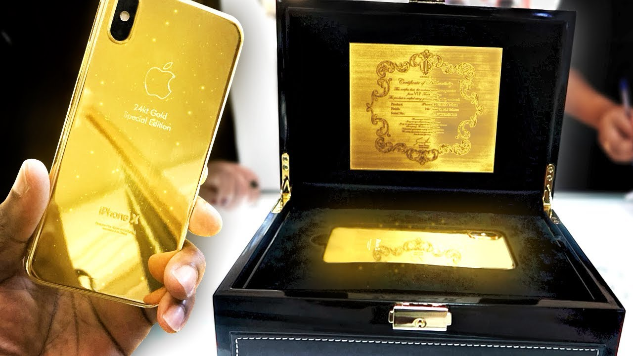 pretty nice 16dc4 c7ac3 BUYING A 24K GOLD IPHONE X IN DUBAI