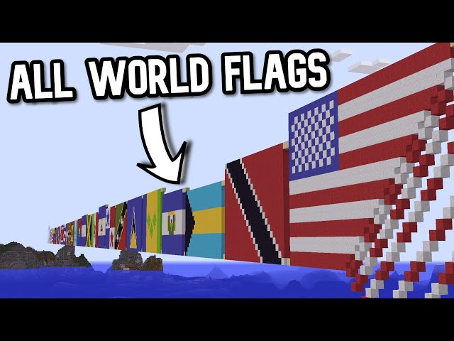 Domino in Minecraft - ALL WORLD FLAGS (almost)