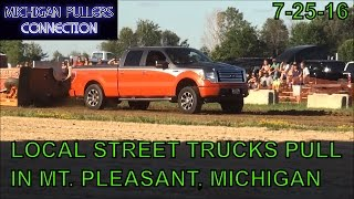 LOCAL STREET GAS AND MODIFIED GAS TRUCKS PULL IN MT PLEASANT, MICHIGAN  JULY 25TH, 2016