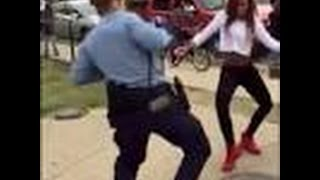 DANCING POLICE WOMAN uses DANCE-OFF to Defuse FIGHTING Between Teenagers| Washington DC {VIDEO RAW}