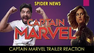 Captain Marvel First Trailer Reaction | Spider News