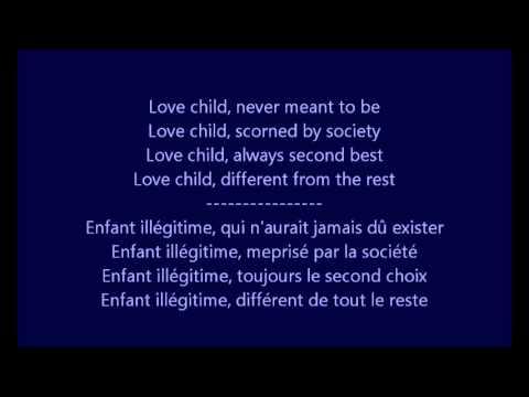 Glee - Love child / Paroles & Traduction