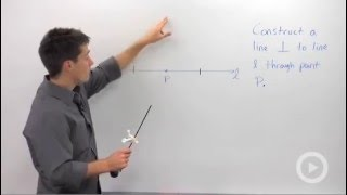 Constructing a Perpendicular at a Point on a Line - Geometry