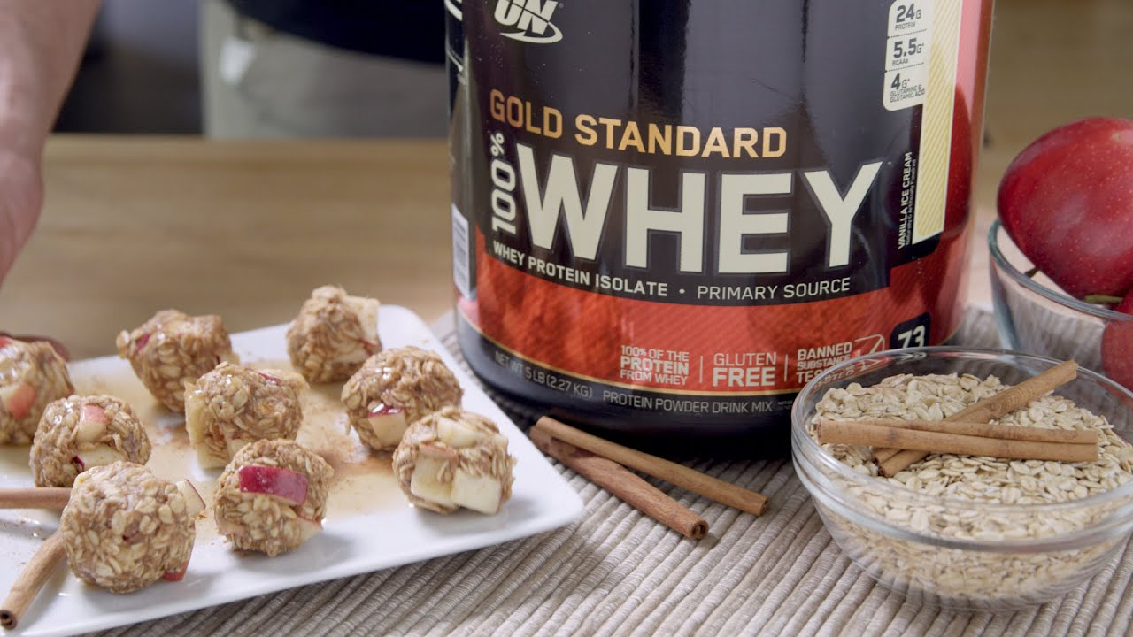 Gold Standard 100% Whey Apple Pie Protein Balls