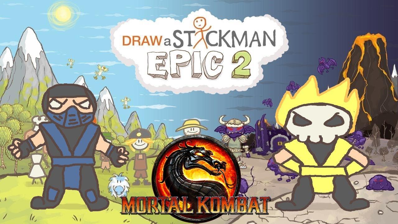 sub zero scorpion mortal kombat drawing