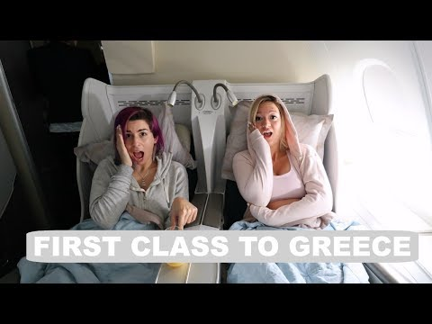 Flying First Class To Greece!