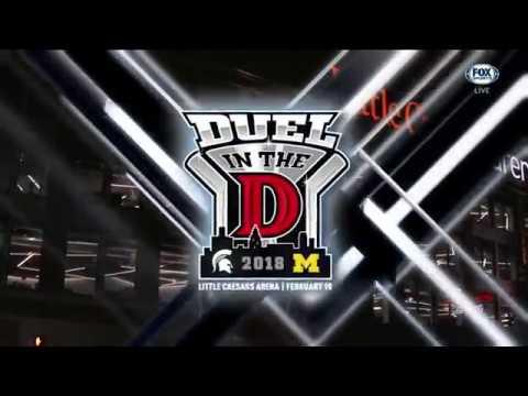 2018-02-10 NCAA Hockey - Michigan vs. Michigan State [Battle for the Iron D]