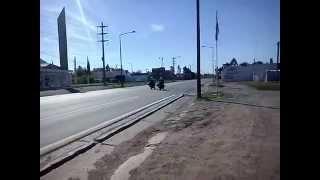 Motos Yamaha TDM-900 De La Gendarmería Nacional Argentina Transitando La Ruta 8.