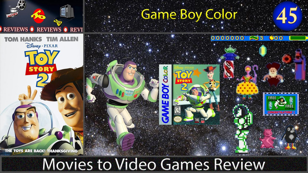 Movies To Video Games Review Toy Story 2 Game Boy