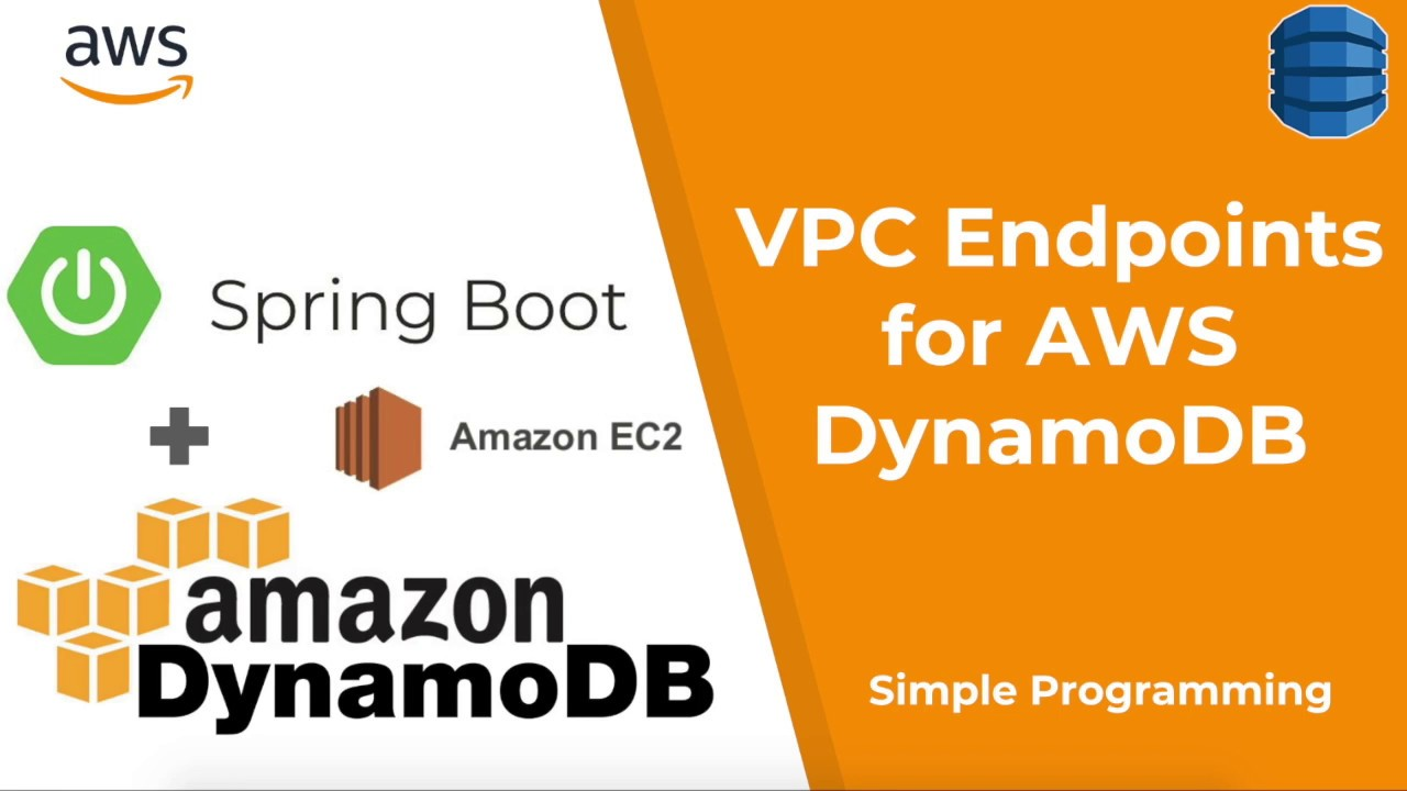 Amazon Web Services | Deploy Spring Boot DynamoDB into EC2 using VPC  Endpoints | Simple Programming