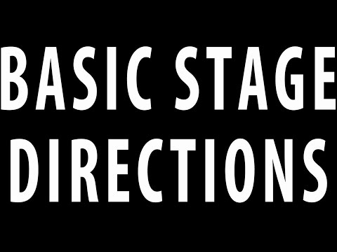 #019 Basic Stage Directions