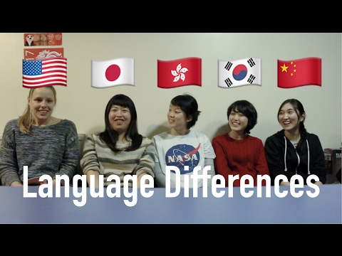 Words in English/Japanese/Cantonese/Korean/Mandarin