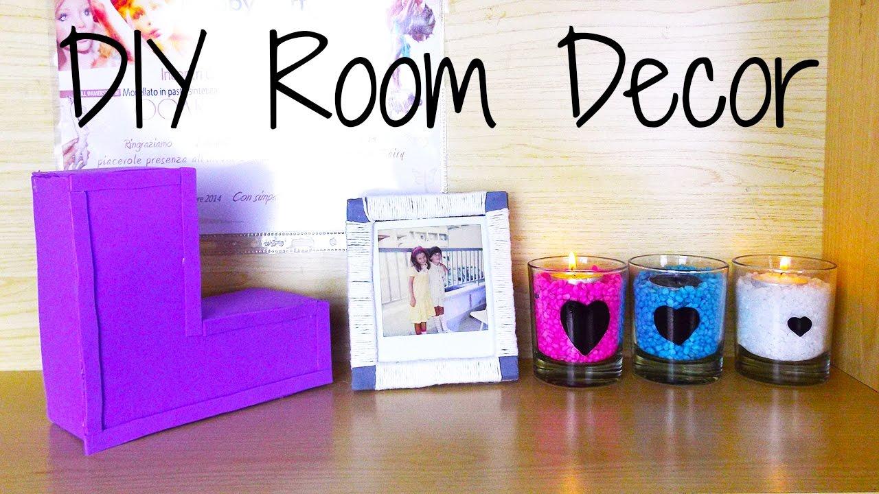 3 diy room decor idee per decorare la stanza youtube for Lavoretti per decorare la stanza