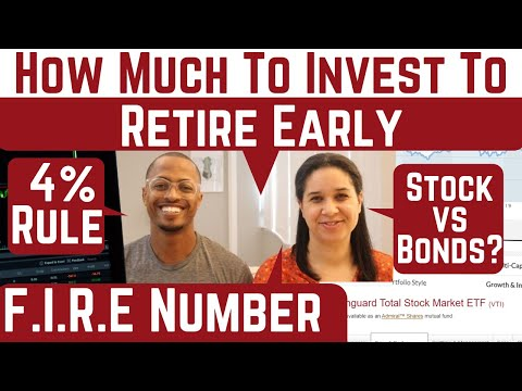 How to Calculate Your Financial Independence Number When Investing In Stocks & Bonds | Our Course!
