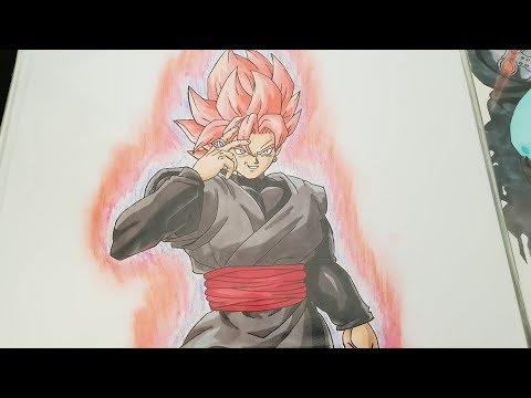 Comment dessiner how to draw como dibujar balck goku ssr - Comment dessiner trunks ...