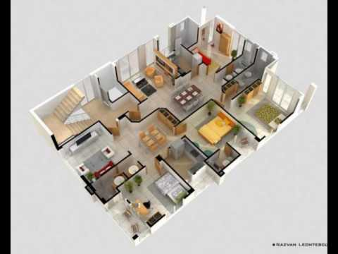 4 bedroom house plan. 4 Bedroom Apartment House Plans  YouTube