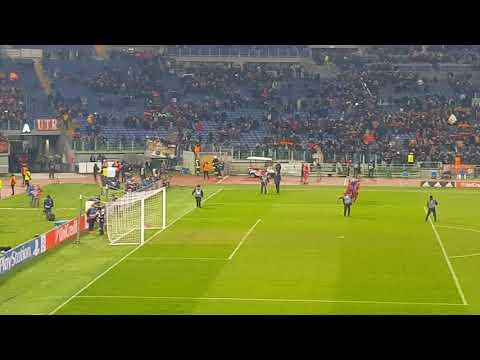 Roma Qarabag 1-0 05/12/2017 l'annuncio primi del girone!!!! e grazie Roma finale daje live 0