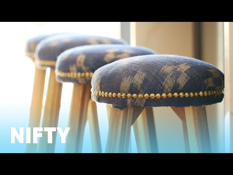 How To Easily Upholster A Stool