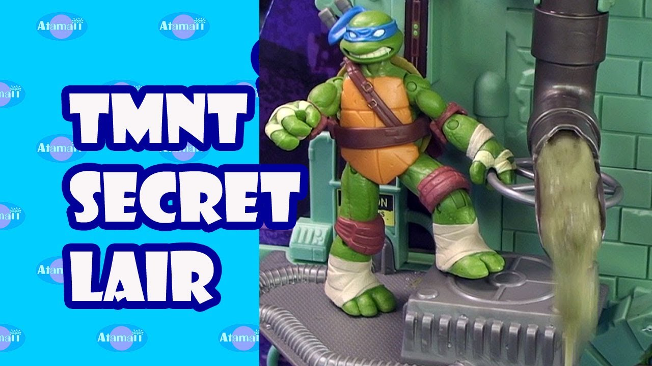 Tmnt Secret Sewer Lair Playset Toy Review Unboxing Youtube