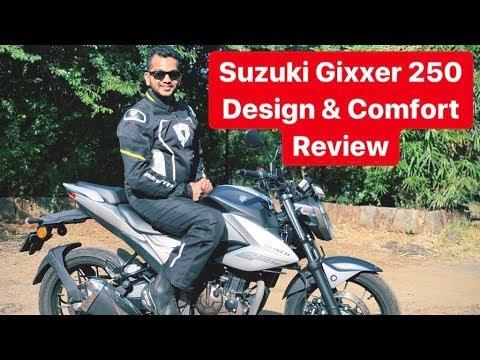 2019 Suzuki Gixxer 250 Review - Design & Comfort (Hindi + English)