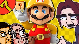 Super Mario Maker Gameplay - Spiny Suffocation Extreme (Hard Level By Arin Hanson - Game Grumps)