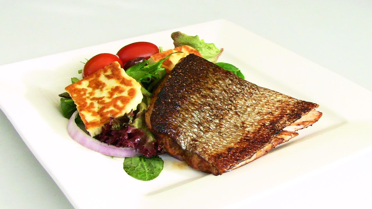 Grilled Soy And Ginger Crispy Skin Salmon Recipe Youtube