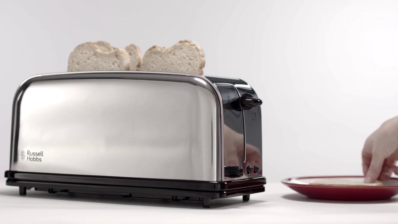 c215636be Russell Hobbs Oxford LongSlot 4 Slice Toaster 23610-56 - YouTube
