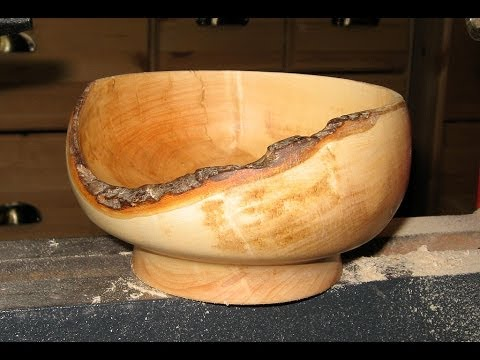 Woodturning - Natural Edge Applewood Bowl