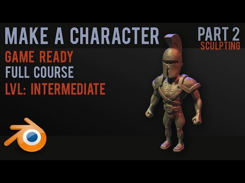 Character modelling tutorial - sculpting and texturing - part 2 - 2018
