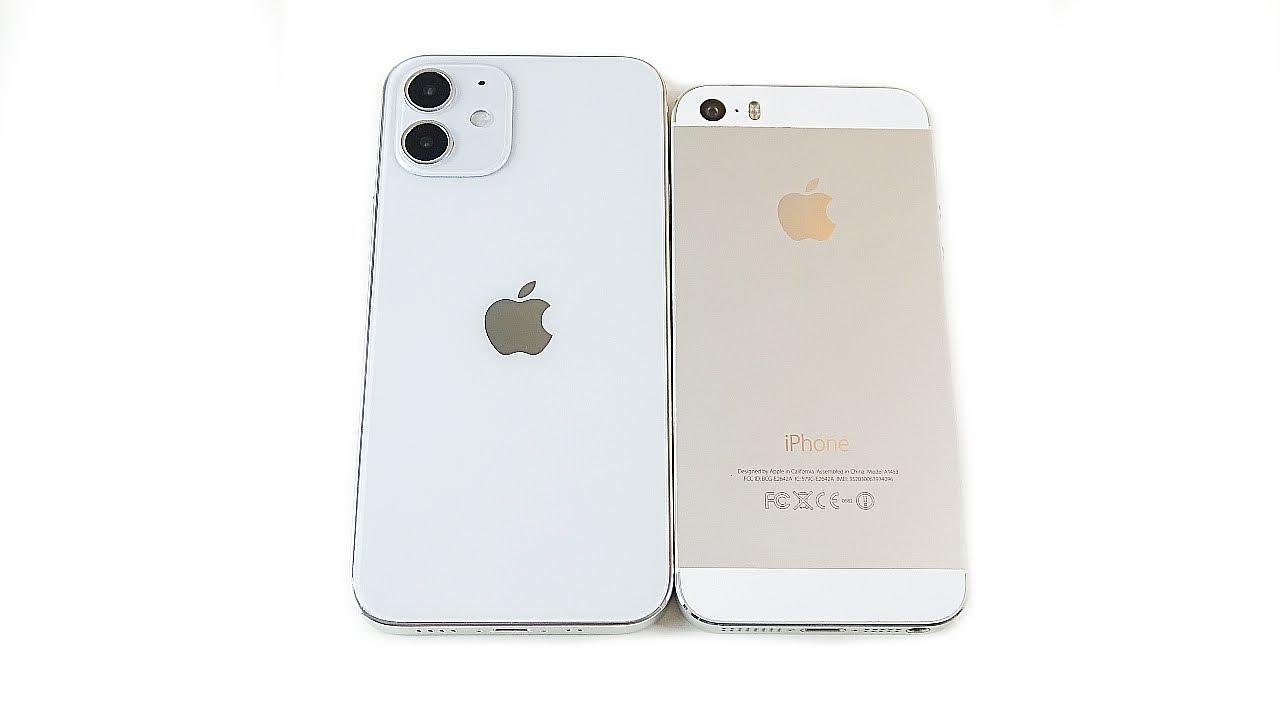 Iphone 12 Mini Size Vs Iphone 5s Youtube
