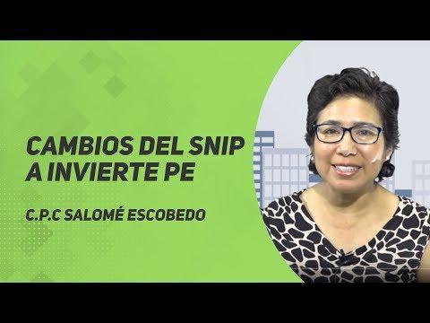 Cambios del SNIP a INVIERTE PERÚ
