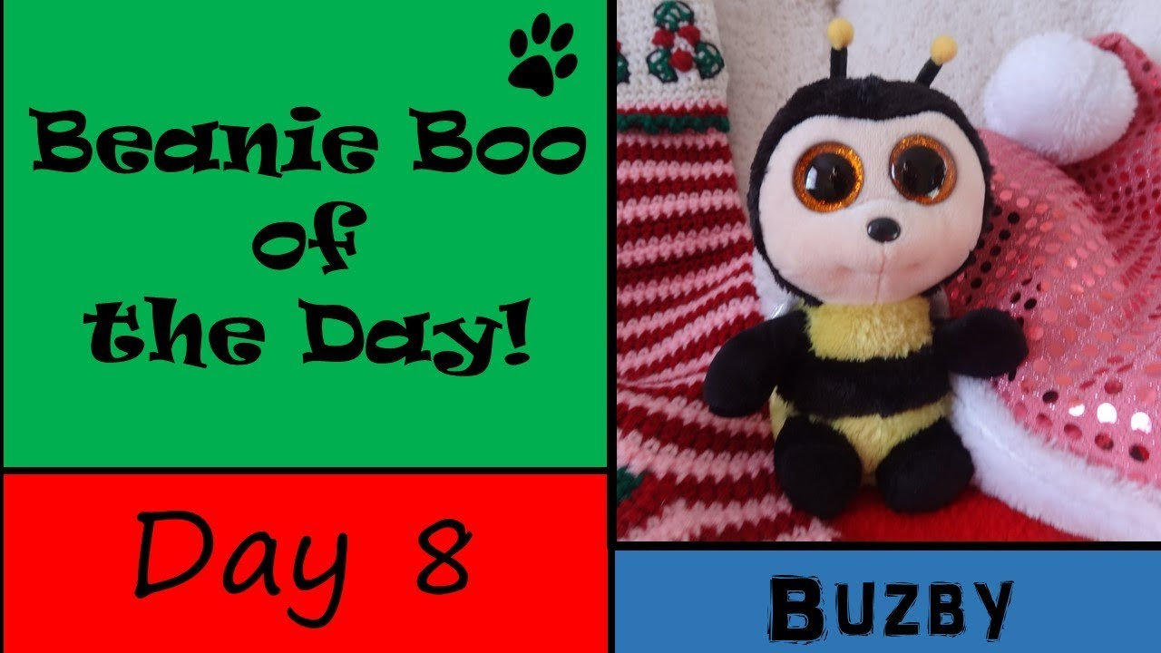 Countdown to Christmas~Beanie Boo of the Day! Day 8 Buzby - YouTube 2d9517dae9f5
