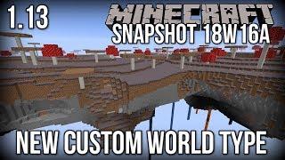 Minecraft Snapshot 18w16a - NEW 'Buffet' World Type (Floating Islands!) [Update Aquatic]