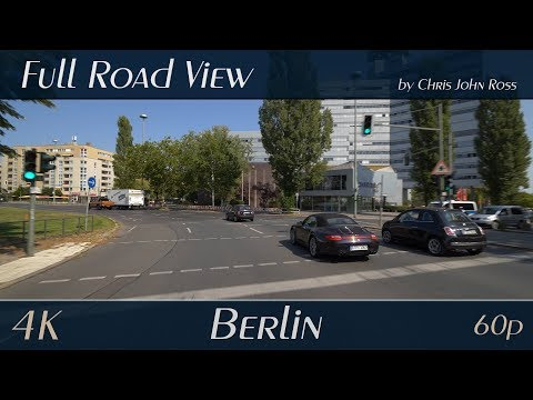Berlin, Germany: Westend - Theodor-Heuss-Platz, Kaiserdamm (B2) - 4K (UHD/2160p/60p) Video