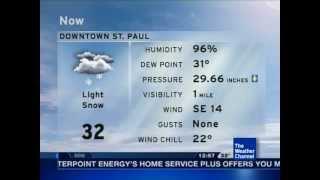2-21-12 St. Paul, MN *Winter Weather Advisory* - TWC 12:57 am