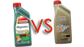 Castrol Magnatec 5W40 vs Castrol EDGE 5W40 test oil