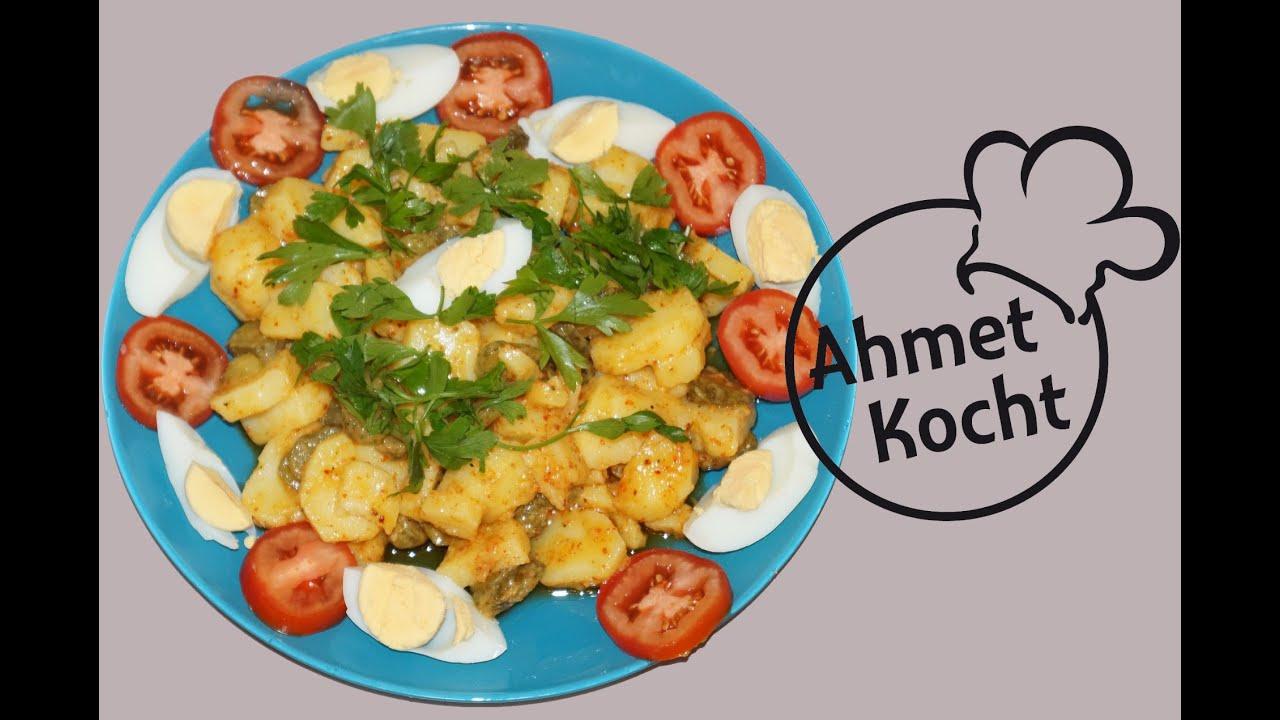 Rezept kartoffelsalat mit ei ahmetkocht vegetarisch kochen folge 101 youtube - L ei weich kochen ...