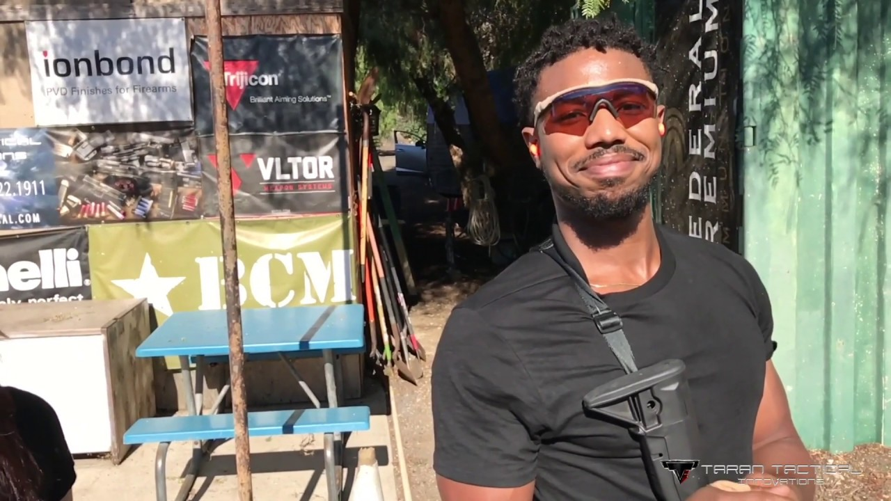 Michael B. Jordan putting in the work for Killmonger