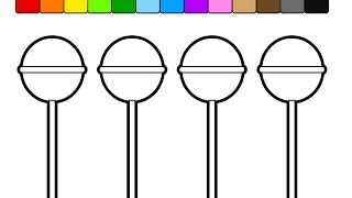Learn Colors for Kids and Color Popsicle & Ice Cream Coloring Pages