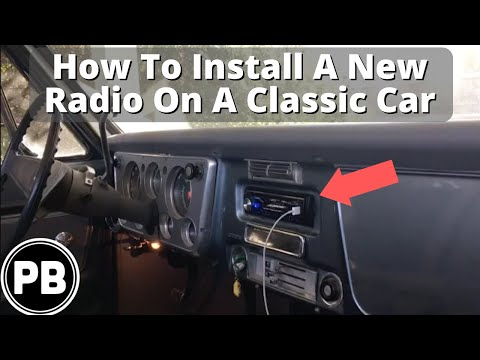 How To Install a New Radio In Any Classic Car - YouTube